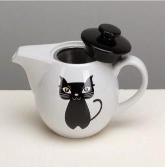 Omniware cat tea service for four, $23.