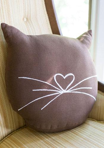 Feline Cozy Pillow, $44.99