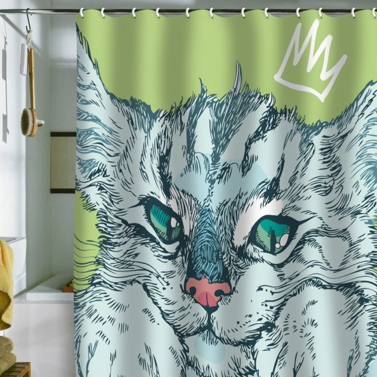 DENY Designs Geronimo Studio Cat Attack Shower Curtain, $81.