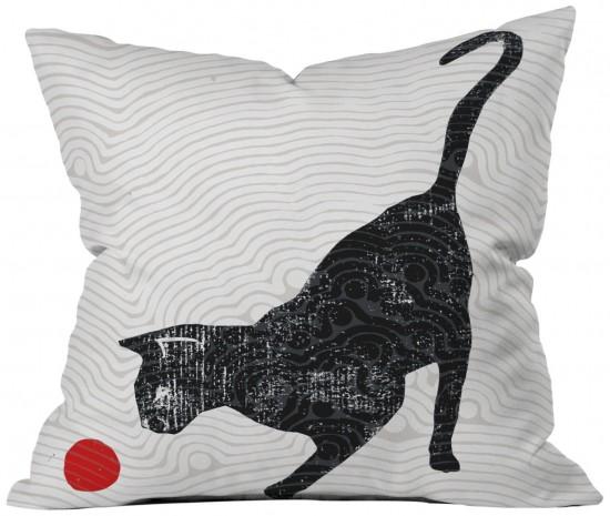 DENY Designs Randi Antonsen Playing Cat Throw Pillow, $39.