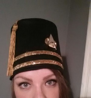 Check my home-sewn Star Trek fez!