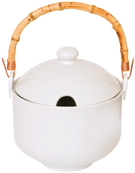 Helen Chen's Perfect Rice Cooker, Porcelain with Bamboo Handle -- $41.19
