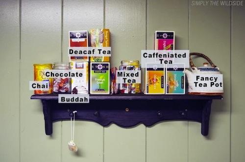 eating healhty tea altar