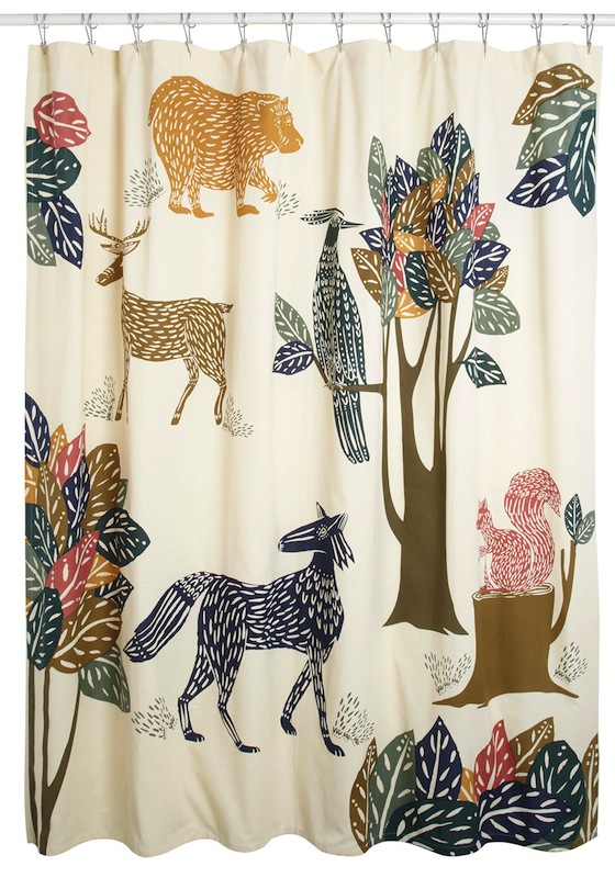 You know how much I love my Danica Studios shower curtain. Almost as much as you'll love your Flora & Fauna Fabric Shower Curtain -- $69.99