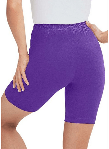 These bike shorts come in nine colours and are available up to size 40W!
