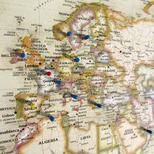 Magnetic Travel Map of The World