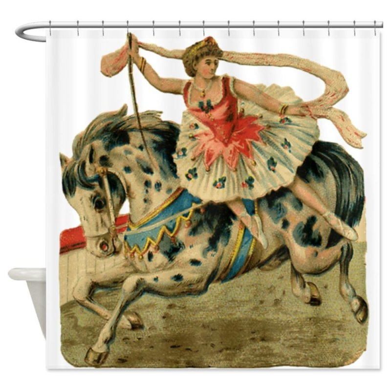 Circus Horse And Rider Shower Curtain