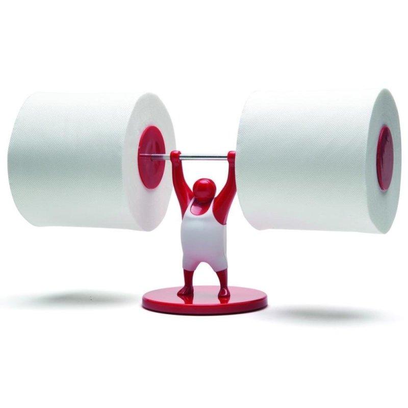 Strong Man Weightlifter Bathroom Toilet Paper Tissue Roll Holder