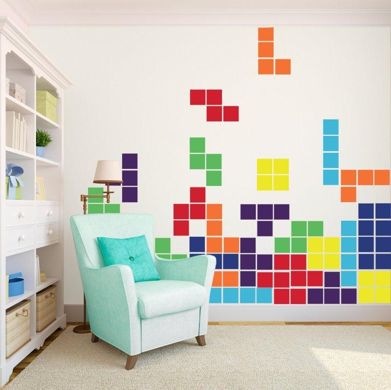 Tetris Game - Large - Vinyl Wall Art Decals