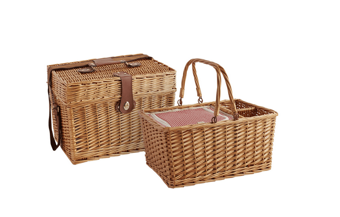 Willow picnic baskets from Pier 1