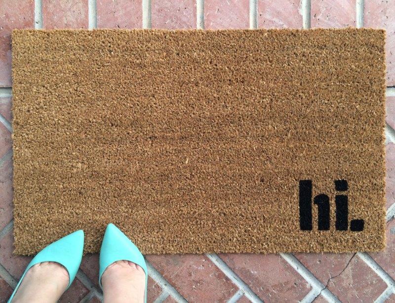 Hi welcome mat by Etsy seller NickelDesignsShop