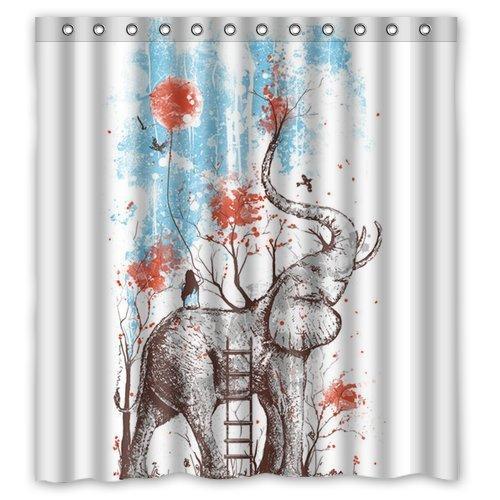 Winterby Custom Art Elephant shower curtain