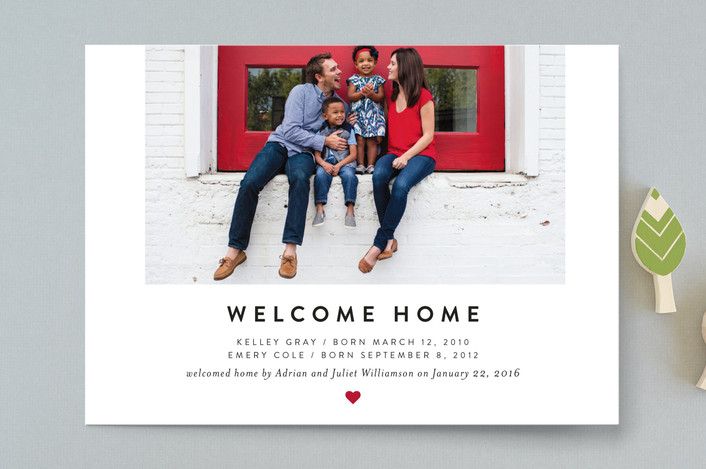 The heartfelt welcome birth announcements from Minted.