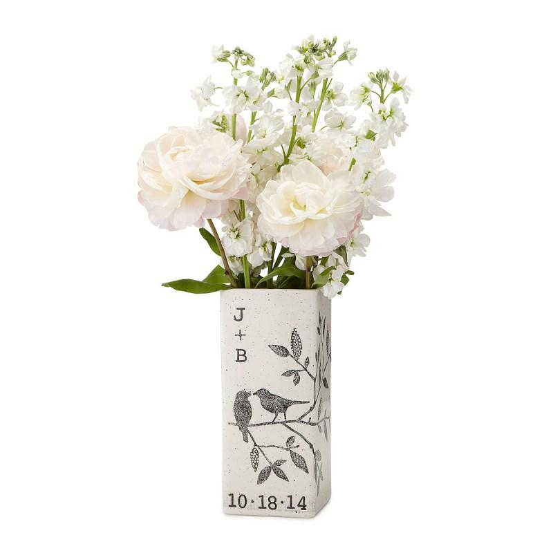 Personalized Songbird Vase