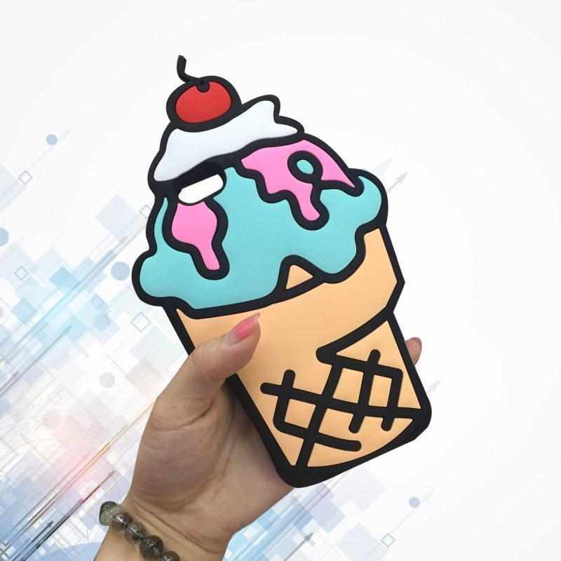 Summer Cherry Ice Cream Cone cover for Apple iPhone 6/6S
