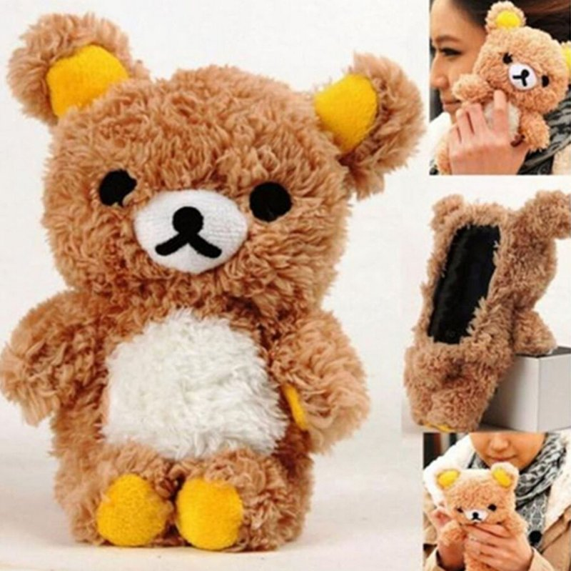 Plush Teddy Bear phone case for Samsung Galaxy S6, iphone 6, AND 6 Plus.