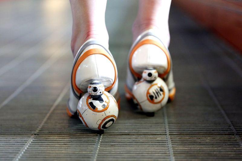 Spinning BB-8 heels tutorial