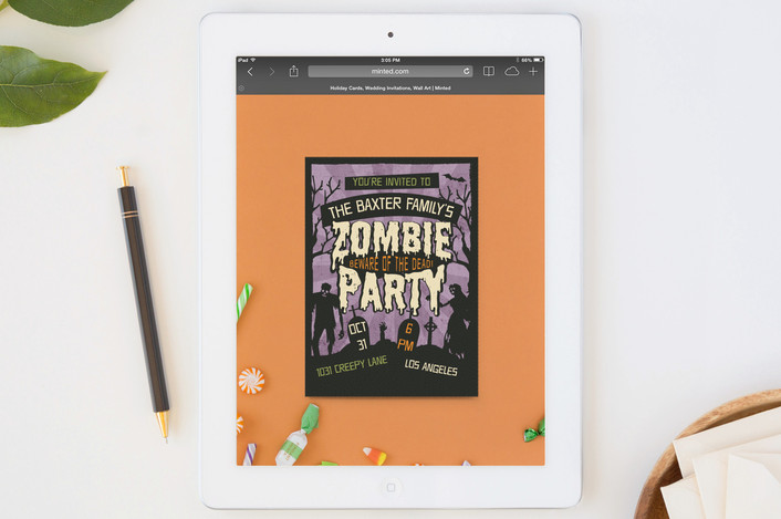 Last-minute free digital Halloween party invites for your spooky soiree