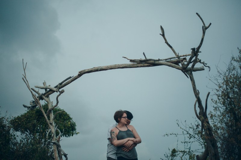 These spontaneous yurt honeymoon photos on Water Island are like firefly magic