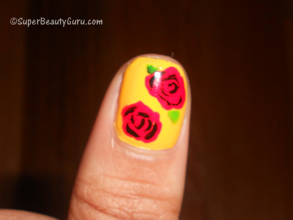 How To Do A Rose Nail Art Design