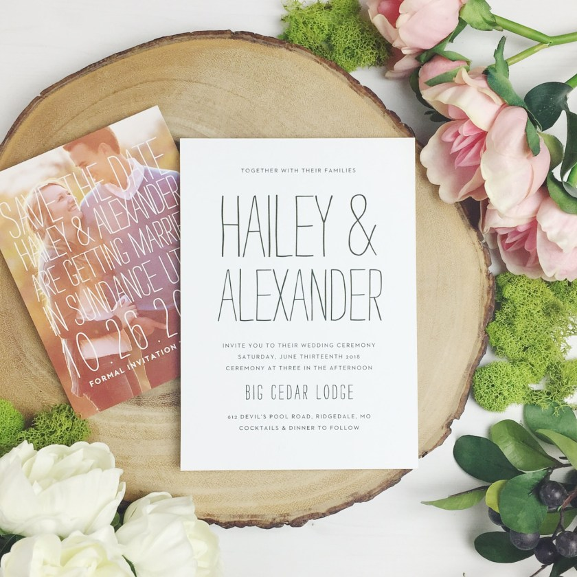 Basic Invite Custom Wedding Invitations Stationery 2