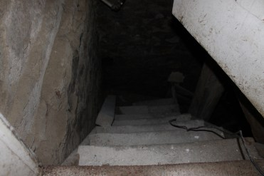 Scary stairs to the scary basement. Fixing this is first on the list!