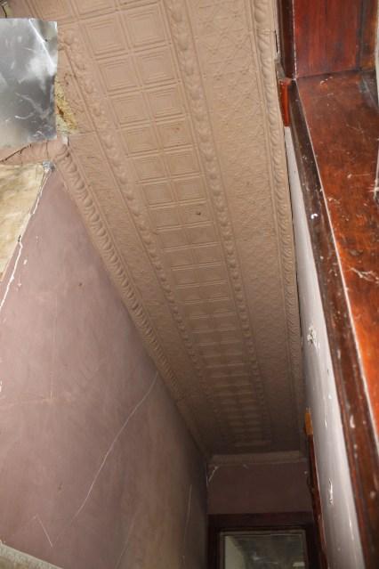 Original ceiling tiles.