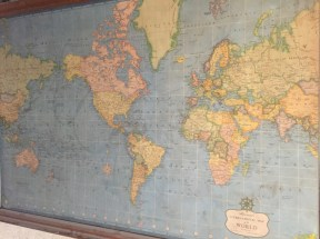 An old world map (ca. 1950)