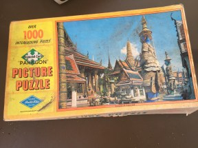 A 1000-piece puzzle. We haven't counted, but I wouldn't be surprised if all the pieces were there.