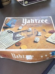 Another Yahtzee game, purchased for the low, low price of $2.39.