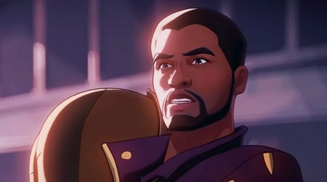 """T'Challa (voiced by Chadwick Boseman) as Star Lord in Disney's """"What If...?"""""""