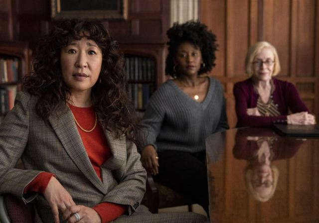Ji-Yoon (Sandra Oh), Yaz McKay (Nana Mensah), and Joan Hambling (Holland Taylor) - courtesy of Pittsburgh Post-Gazette
