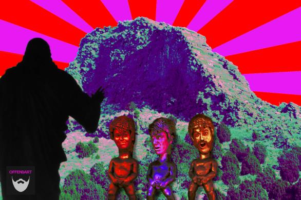 Bildnachweis: Manneken's Piss by Campi Qui Pugui Produccions CC-BY-SA 2.0, Jesus and the sun by Pedro Antunes CC-BY 2.0 und Step Mountain by Tristan Higbee CC-BY 2.0, montiert und bearbeitet von Simon Mallow.