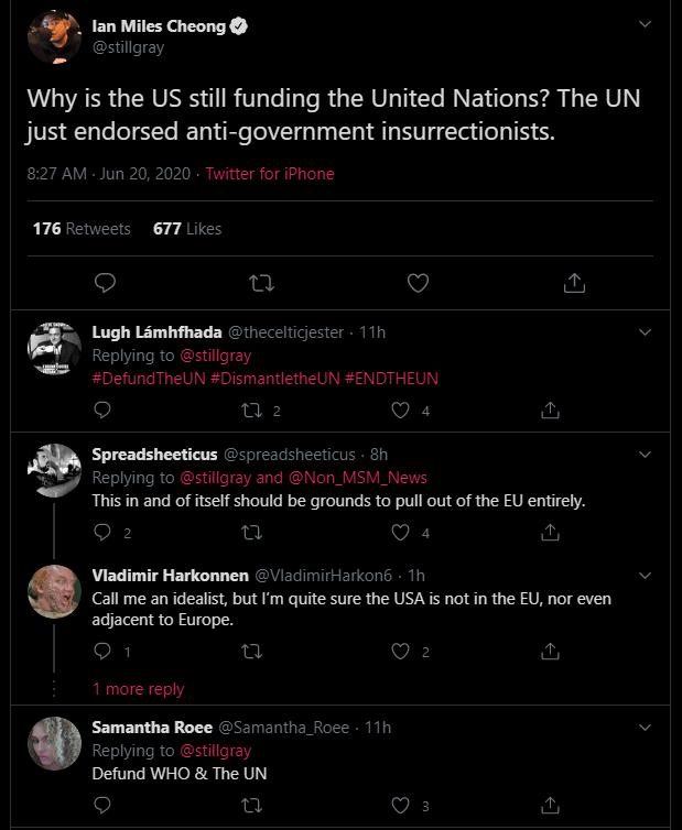 UN Posts Tweet in Support of Antifa, then Removes It 1