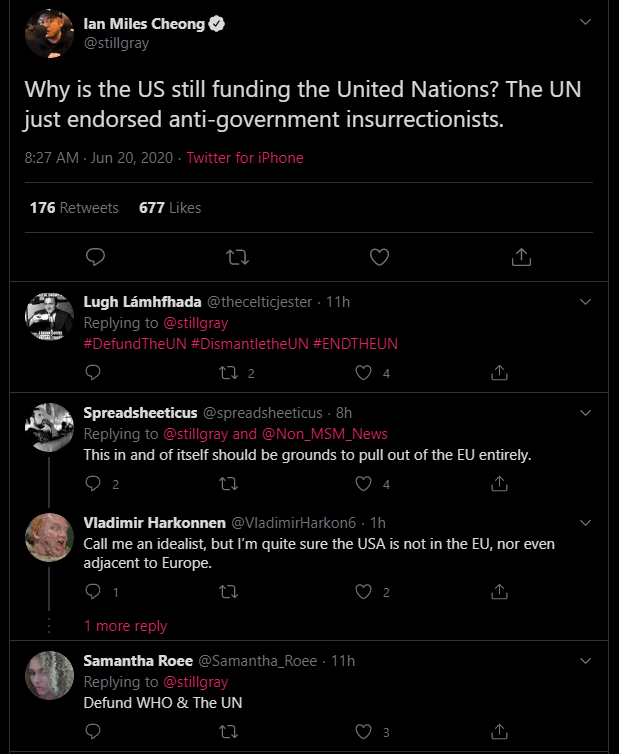 UN Posts Tweet in Support of Antifa, then Removes It 1