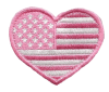 Pink Heart US Flag Patch