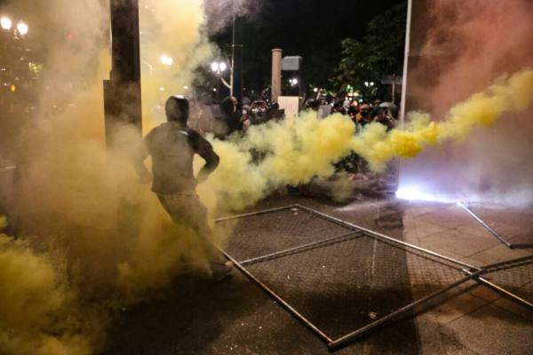 Portland Mayor Joins Rioters, Gets Gassed