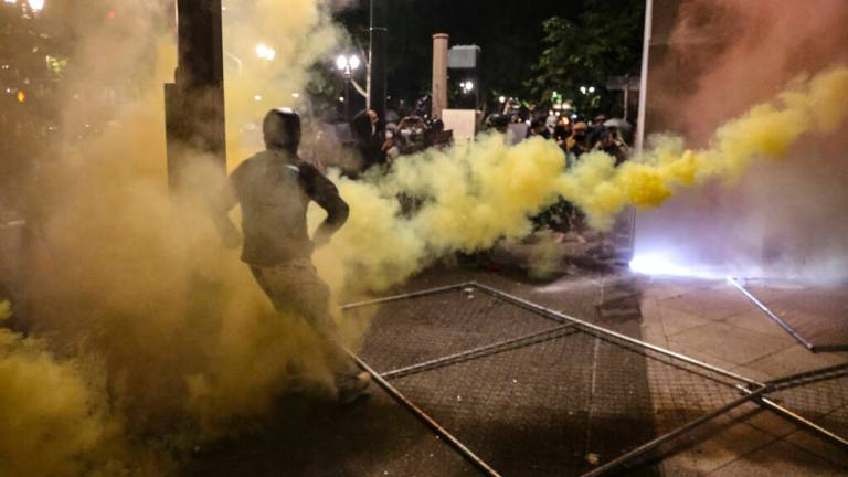 VIDEO: Portland Police Finally Start Pushing Back and Destroying Rioters