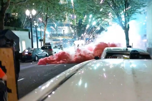 VIDEO: Portland Rioters Create Havoc With Smoke and Fireworks Against Police