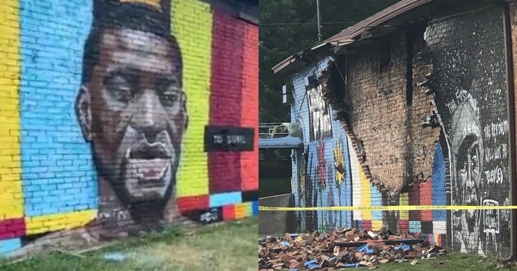 George Floyd Mural Was Destroyed By Lightning Strike 1
