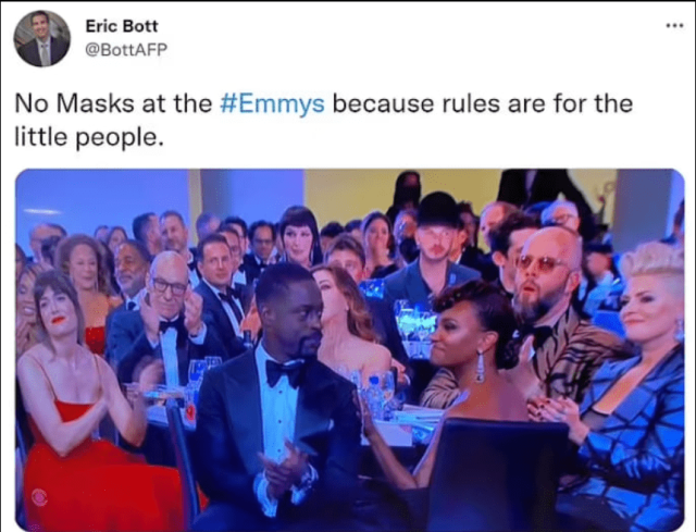 Maskless Emmys While Your Kids Are Forced To Wear One At School 4