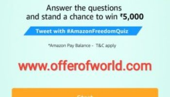 Amazon app todays contest answer offer world amazonfreedomquiz amazon freedom quiz answer fandeluxe Gallery