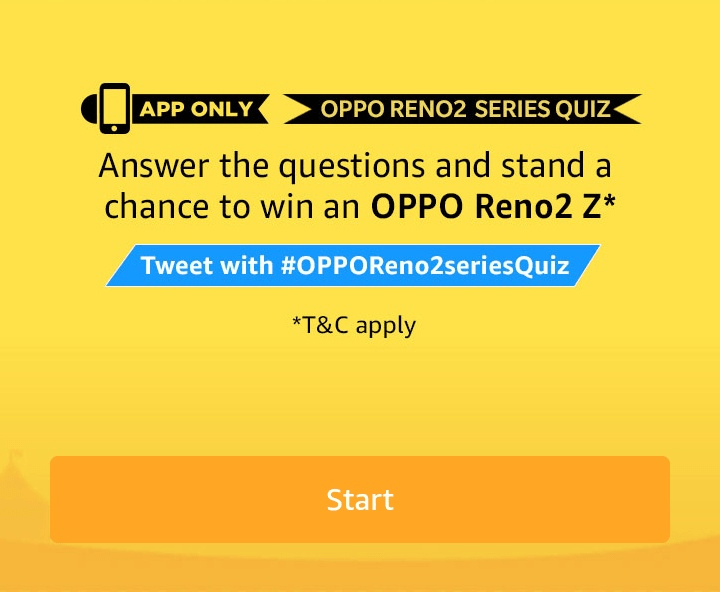 Amazon Oppo Reno2 Z Quiz Answers Play Win Oppo Reno2 Z Smartphone Offer Of World