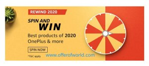 Amazon Rewind 2020 Spin And Win Prizes