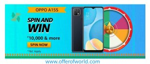 Amazon OPPO A15S Spin And Win