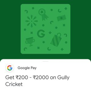Google Pay Gully Cricket Game Offer