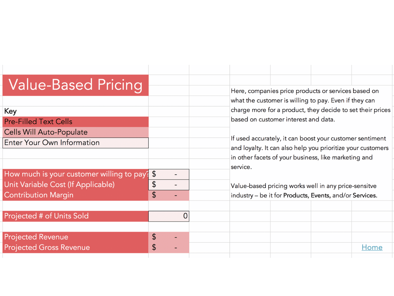 Free Sales Pricing Calculator And Strategy Template