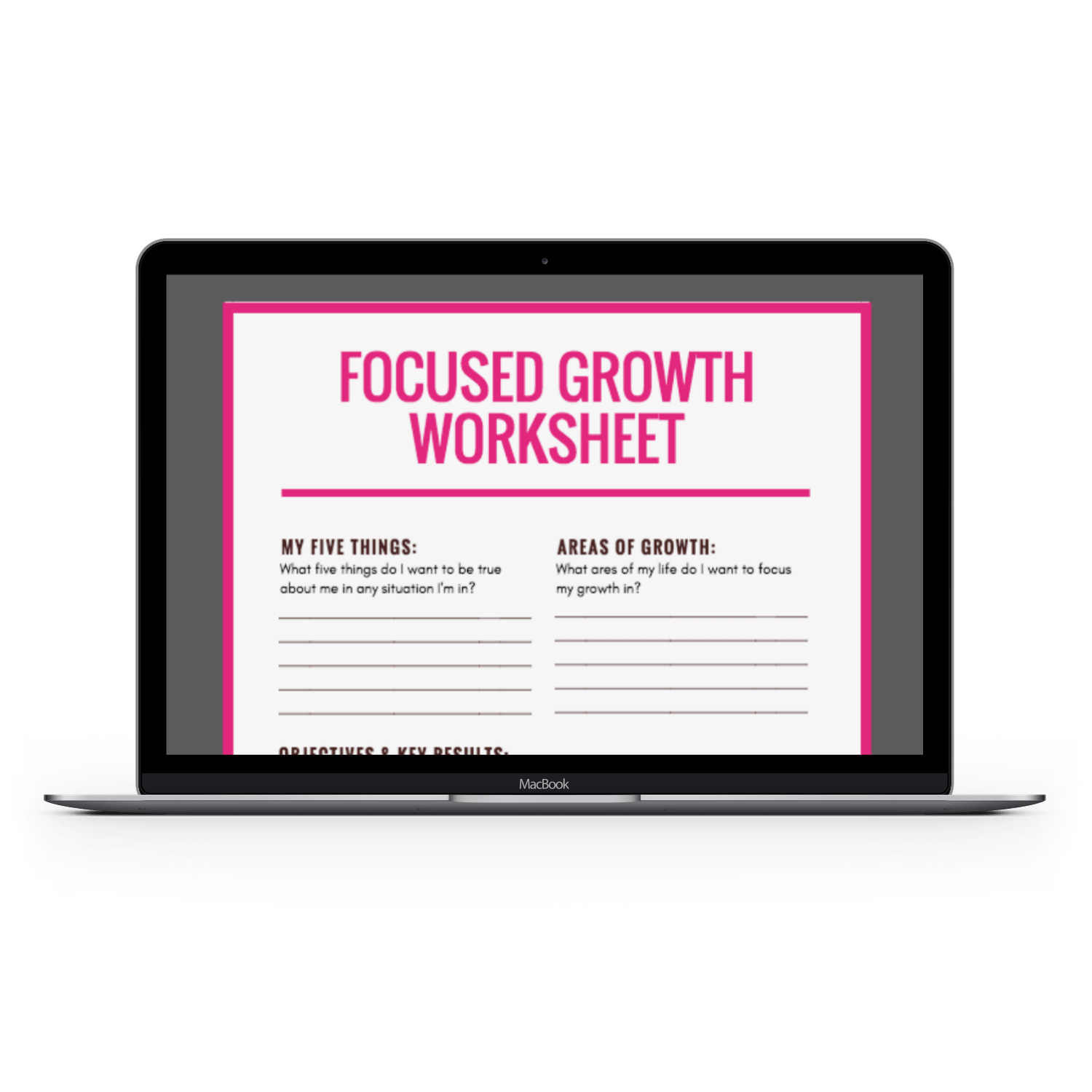 Free Focused Growth Worksheet Markether