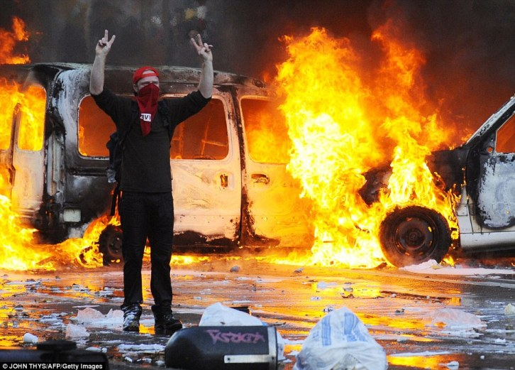 brussels riots today