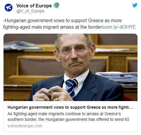 hungarian goverment vows to support greece